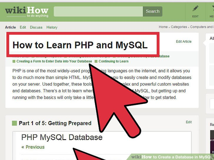 how to create database in mysql example