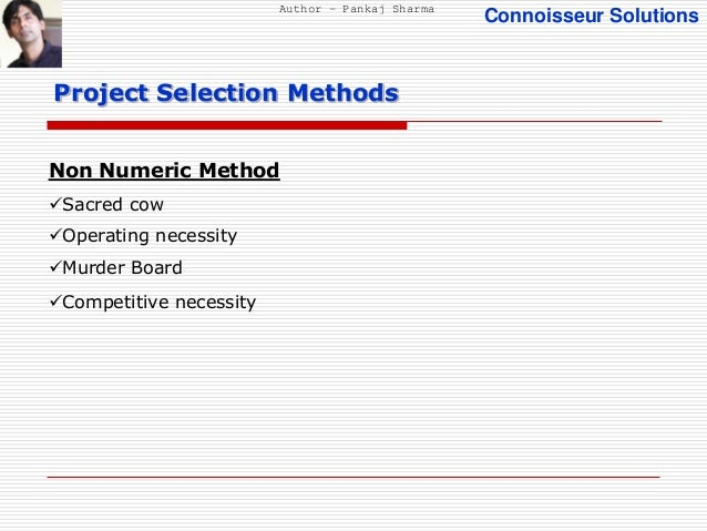linear programming is an example of which project selection method