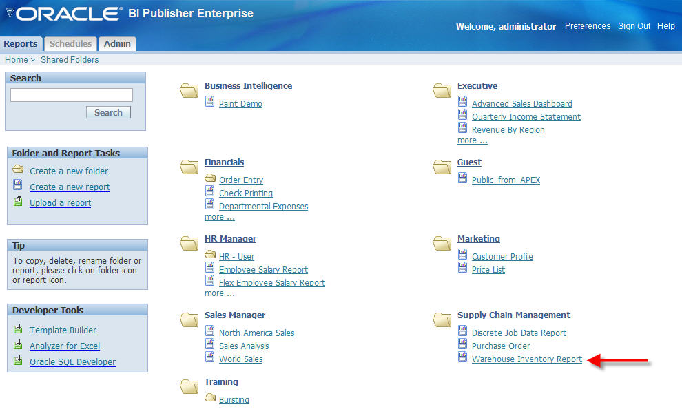 oracle by example bi publisher