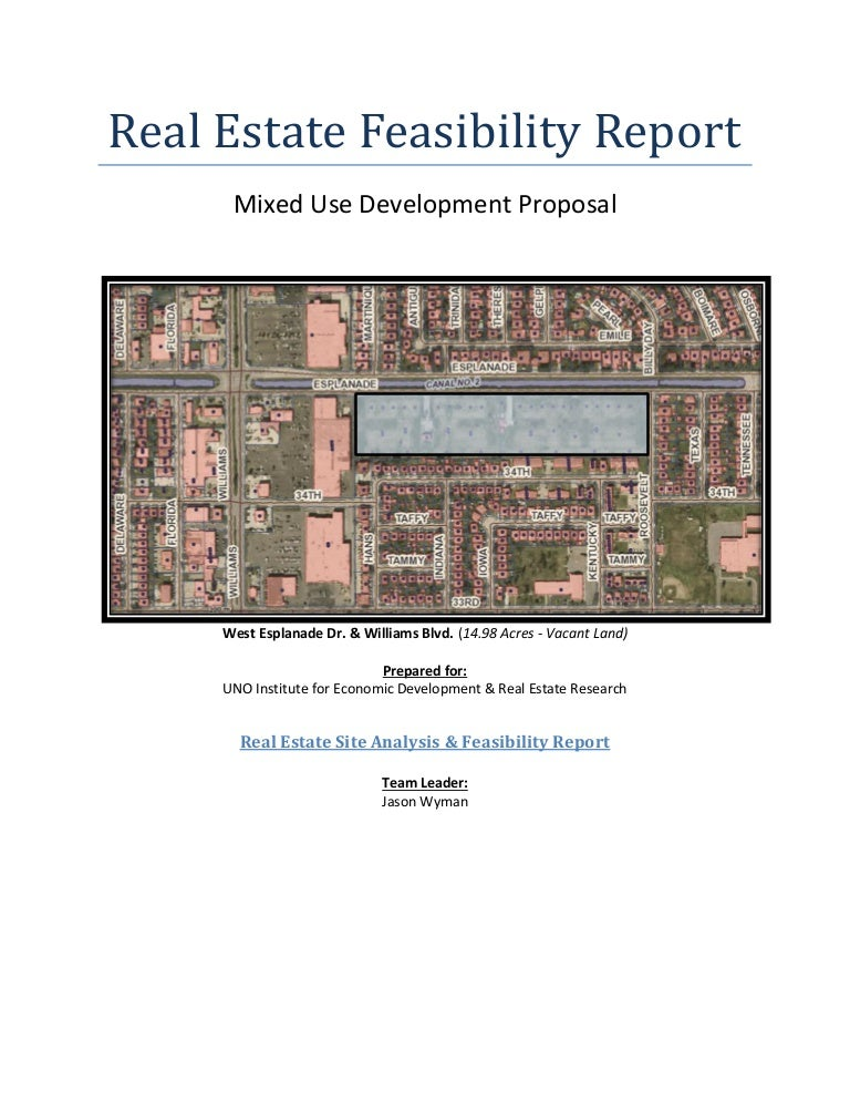 real estate feasibility study example