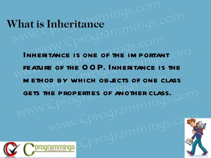 real time example of inheritance in oops