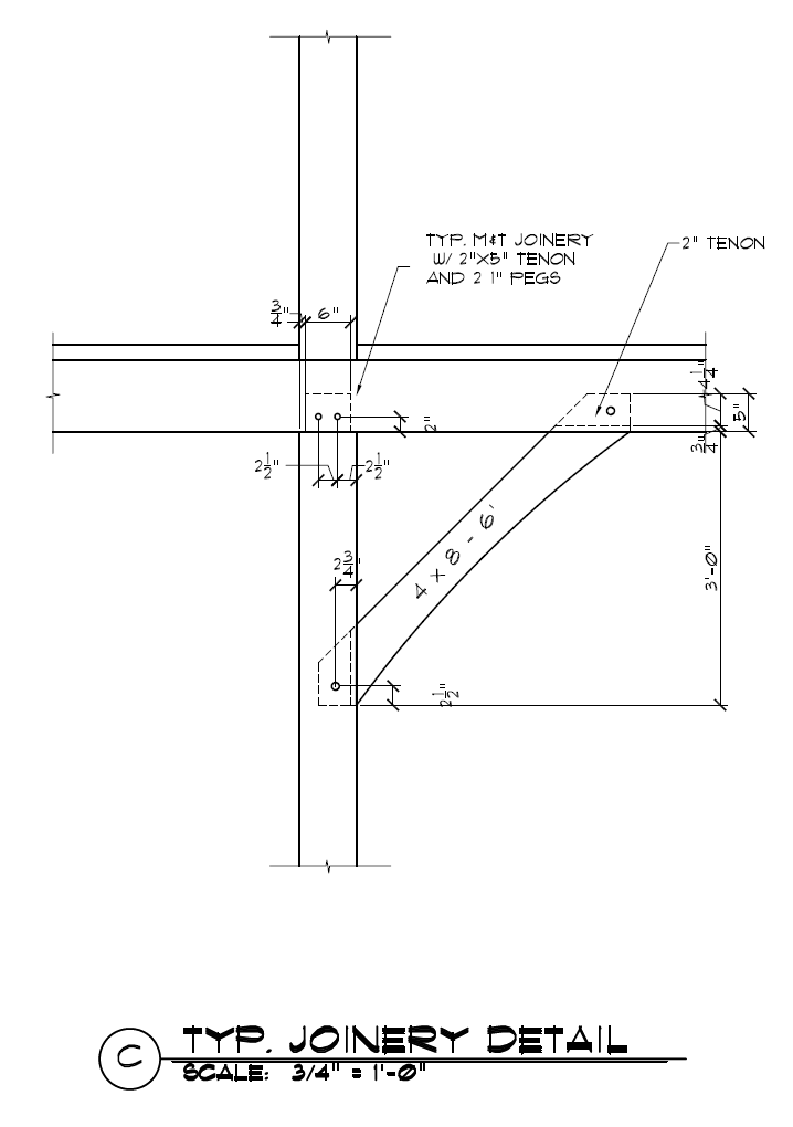 wood truss connection design example